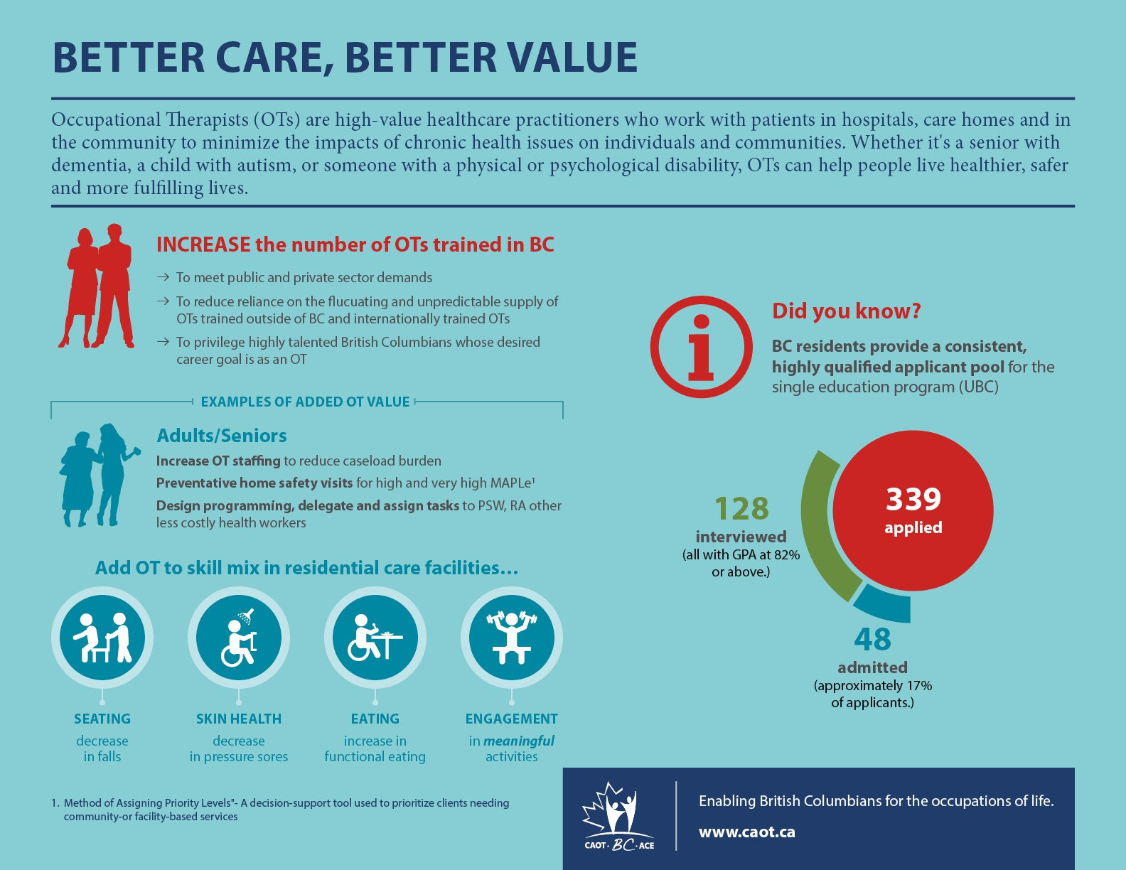 Better Care, Better Value Inforgraphic