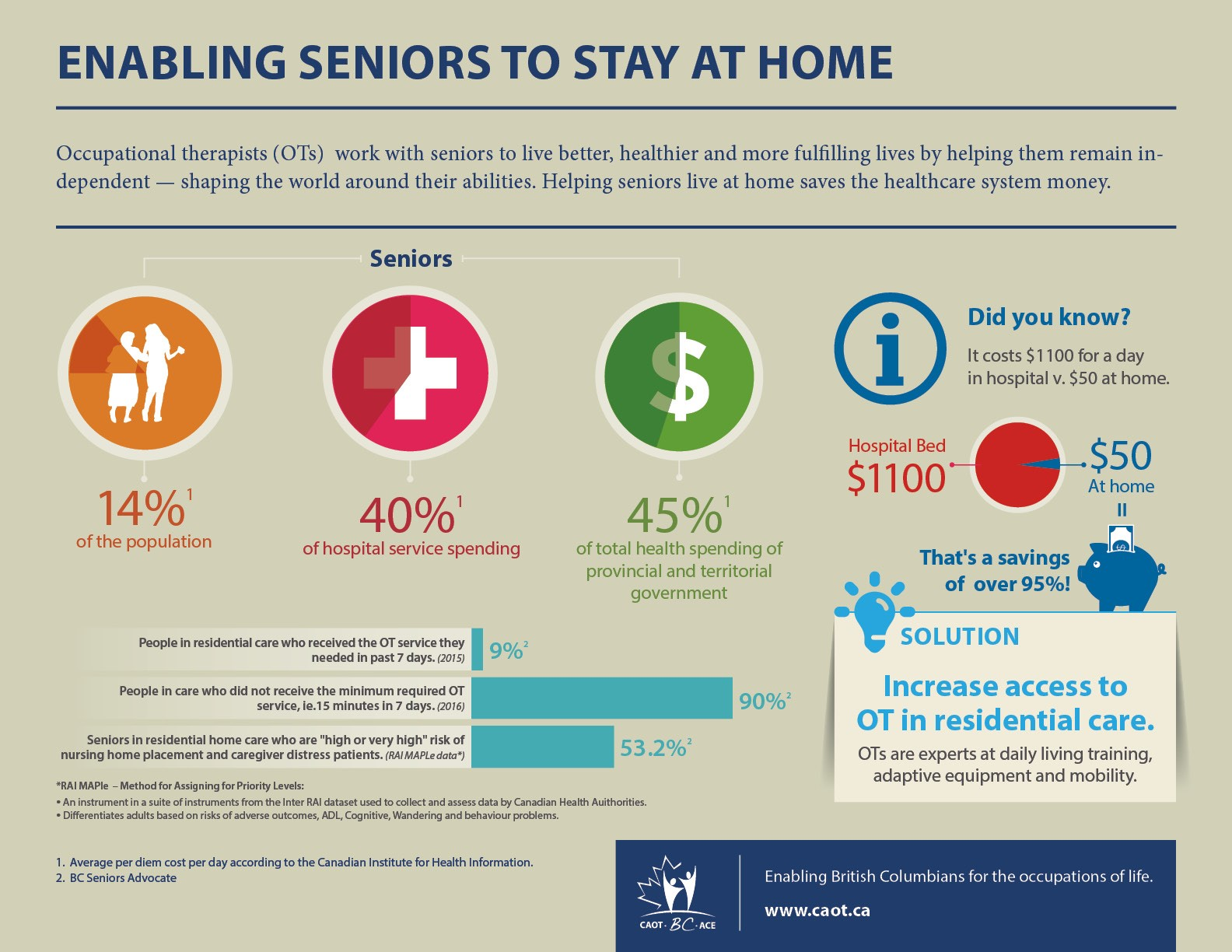 Enabling Seniors to Stay at Hom, Infographic