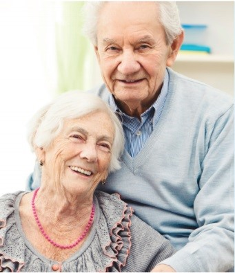 Elderly woman with husband